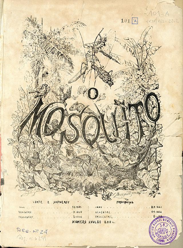 Jornal O Mosquito,  1 de Janeiro de 1876