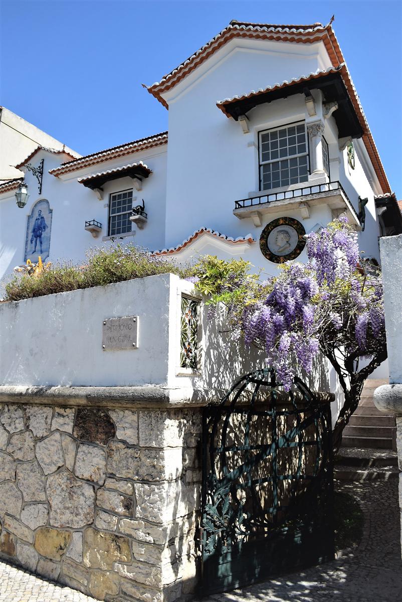 Fachada e Glicínia à entrada do Museu Bordalo Pinheiro